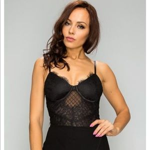 Tops - Lace Body Suit (Available in Black & White)